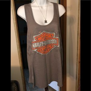 🎀 Harley Davidson women's tank top bling